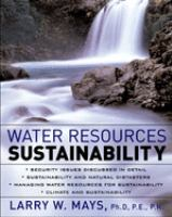 Cover image for Water resources sustainability