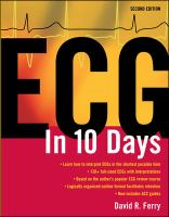 Cover image for Electrocardiography in ten days
