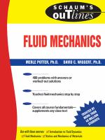Cover image for Schaum's outline of fluid mechanics