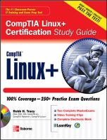 Cover image for CompTIA Linux + certification study guide