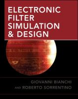 Cover image for Electronic filter simulation & design