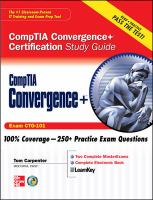Cover image for CompTIA convergence+ certification study guide (exam CTO-101)