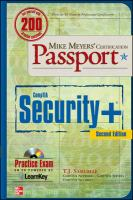Cover image for Mike meyers' certification passport compTIA security+