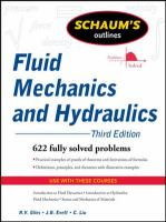 Cover image for Schaum's outline of fluid mechanics and hydraulics