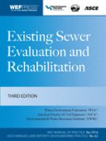Cover image for Existing sewer evaluation and rehabilitation