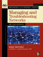 Cover image for Mike Meyers' compTIA network+ guide to managing and troubleshooting networks
