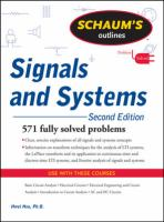 Cover image for Schaums outlines signals and systems