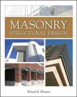 Cover image for Masonry structural design