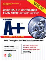 Cover image for CompTIA A+ certification study guide (exams 220-701 & 220-702)