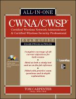 Cover image for CWNA certified wireless network administrator & CWSP certified wireless security professional : exam guide (PWO-104 & PWO-204)