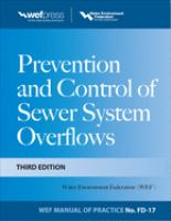 Cover image for Prevention and control of sewer system overflows