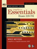 Cover image for Mike Meyers' CompTIA A+ guide essentials : exam 220-701