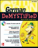 Cover image for German demystified