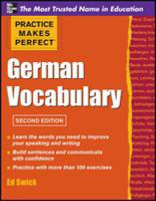 Cover image for German vocabulary / Ed Swick