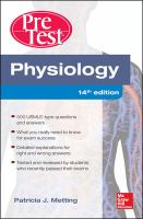 Cover image for Physiology : pretest self-assessment and review