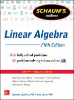 Cover image for Linear algebra
