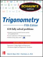 Cover image for Trigonometry : with calculator-based solutions
