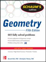 Cover image for Schaum's outlines geometry