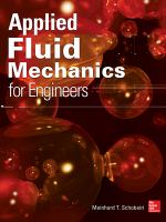 Cover image for Applied fluid mechanics for engineers