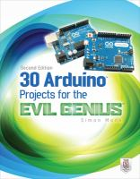 Cover image for 30 Arduino projects for the evil genius