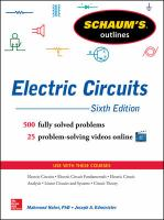 Cover image for Schaum's outlines electric circuits