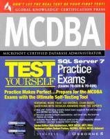 Cover image for MCDBA SQL server 7