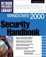 Cover image for Windows 2000 :  security handbook