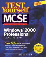 Cover image for Test yourself MCSE windows 2000 professional : exam 70-210