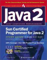Cover image for Sun certified programmer for Java 2 study guide (Exam 310-025)