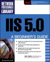 Cover image for IIS 5.0 : a beginner's guide, Window 2000