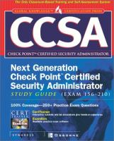 Cover image for CCSA next generation check point certified security administrator study guide : (exam 156-210)