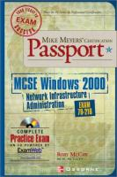 Cover image for MCSE Windows 2000 : network infrastructure administration certification passport