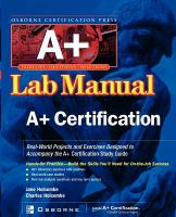 Cover image for A+ certification press lab manual