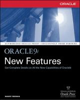 Cover image for Oracle9i new features