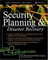 Cover image for Security planning and disaster recovery