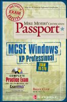 Cover image for MCSE windows XP professional : exam 70-270