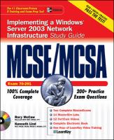 Cover image for MCSE/MCSA implementing a windows server 2003 network infrastructure study guide : exam 70-291