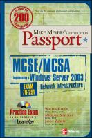 Cover image for MCSE/MCSA implementing a Windows Server 2003 network infrastructure : exam 70-291