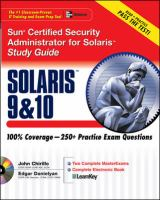 Cover image for Sun Certified Security Administrator for Solaris 9 & 10 study guide