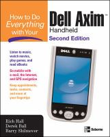 Cover image for How to do everything with your dell axim handheld