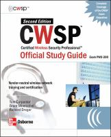 Cover image for CWSP certified wireless security professional : official study guide (Exam PW0-200)