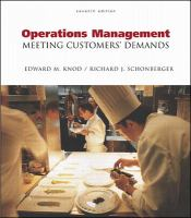 Cover image for Operations management : meeting customers' demands