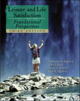 Cover image for Leisure and life satisfaction :  foundational perspectives