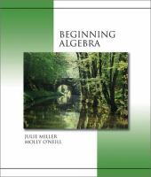 Cover image for Beginning algebra