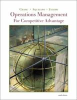 Cover image for Operations management for competitive advantage