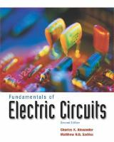 Cover image for Fundamentals of electric circuits : e-text