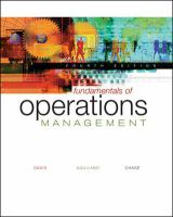 Cover image for Fundamentals of operations management