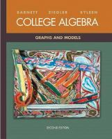Cover image for College algebra : graphs and models