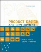 Cover image for Product design and development