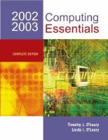 Cover image for Computing essentials 2002-2003 : complete